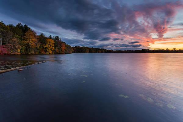 New England Art Print featuring the photograph Fall Sunset by Bryan Bzdula