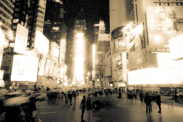Times Square Art Print featuring the photograph New York by Patrick Flynn