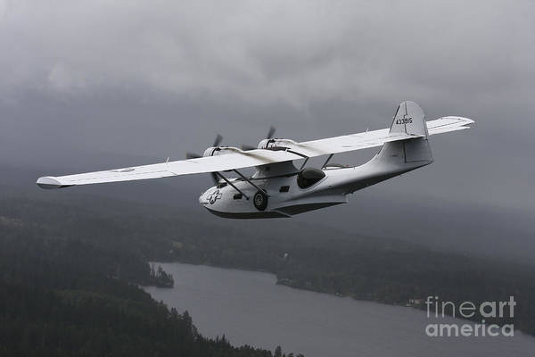 Transportation Print featuring the photograph Pby Catalina Vintage Flying Boat by Daniel Karlsson