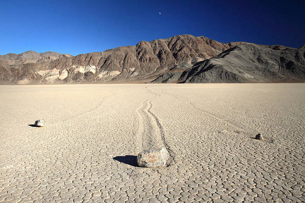 Death Valley Art Print featuring the photograph Racetrack In Death Valley National Park by Pierre Leclerc Photography