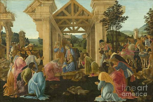 Art Print featuring the painting The Adoration Of The Magi by Sandro Botticelli