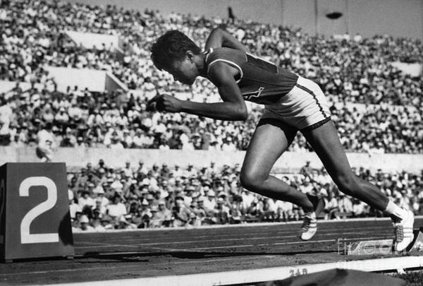 1960 Print featuring the photograph Wilma Rudolph (1940-1994) by Granger