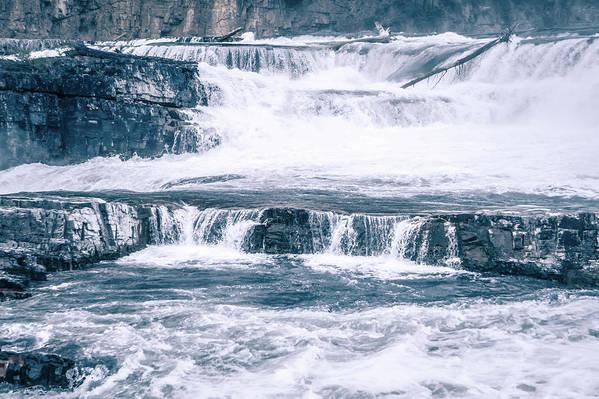 Falls Art Print featuring the photograph Kootenai River Water Falls In Montana Mountains by Alex Grichenko