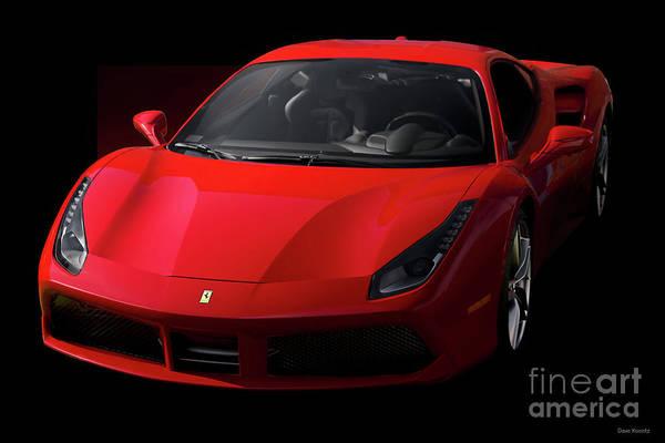 Auto Art Print featuring the photograph 2017 Ferrari 488 Gtb by Dave Koontz