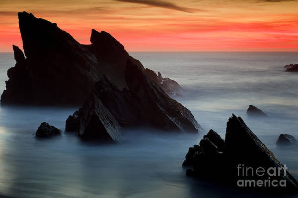 Adraga Art Print featuring the photograph Adraga Beach In Sintra Natural Park by Andre Goncalves