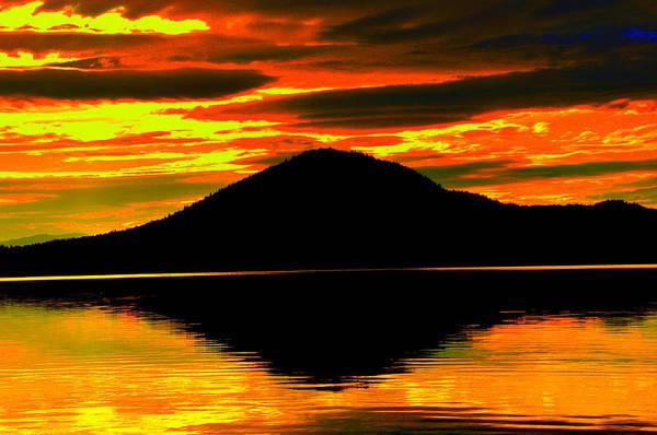 Lake View Art Print featuring the digital art Moosehead Lake by Aron Chervin