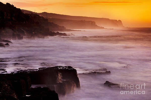 Architecture Art Print featuring the photograph Sunset In The Portuguese Coast by Andre Goncalves