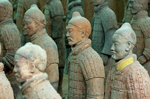Ancient Art Print featuring the photograph The Terracotta Army by Sami Sarkis