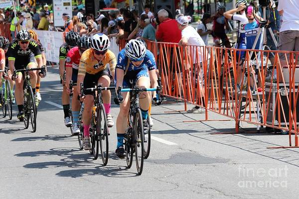 Fearless Femme Racing Art Print featuring the photograph Fearless Femme Racing by Donn Ingemie