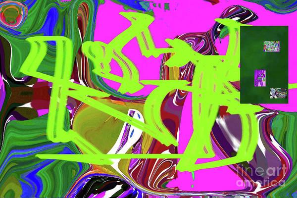 Walter Paul Bebirian Art Print featuring the digital art 4-19-2015babcdefgh by Walter Paul Bebirian