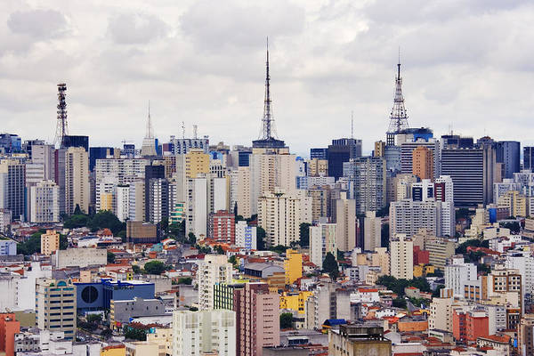 Apartment Art Print featuring the photograph Buildings Of Downtown Sao Paulo by Jeremy Woodhouse