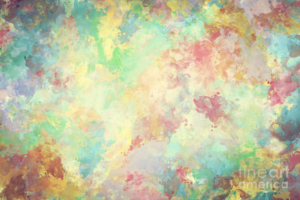 Watercolor Art Print Featuring The Photograph Colorful Paint On Canvas Super High Resolution And