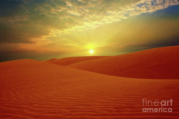 Sandhills Art Print featuring the photograph Desert by MotHaiBaPhoto Prints