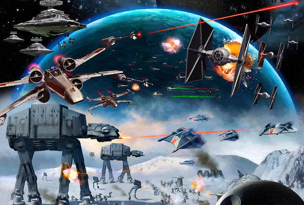Star Wars 3 Art Print featuring the digital art Episode 1 Star Wars Art by Larry Jones
