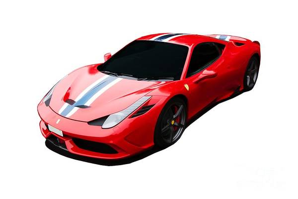 Ferrari Art Print featuring the digital art 458 Speciale by Roger Lighterness