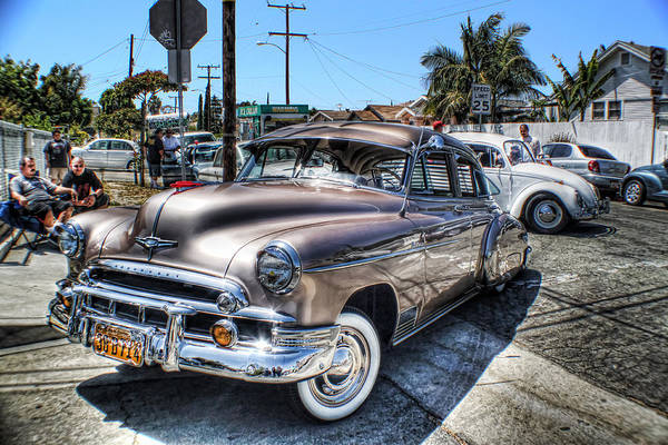 Lowrider Photographs Art Print featuring the photograph 49 In The Hood by MadMethod Designs