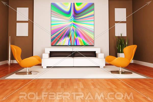 ultra Modern Art Print featuring the digital art An Example Of Modern Art By Rolf Bertram In An Interior Design Setting by Rolf Bertram