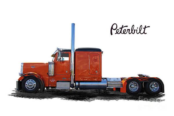Peterbilt Art Print featuring the photograph Peterbilt Semi Truck by Nick Gray