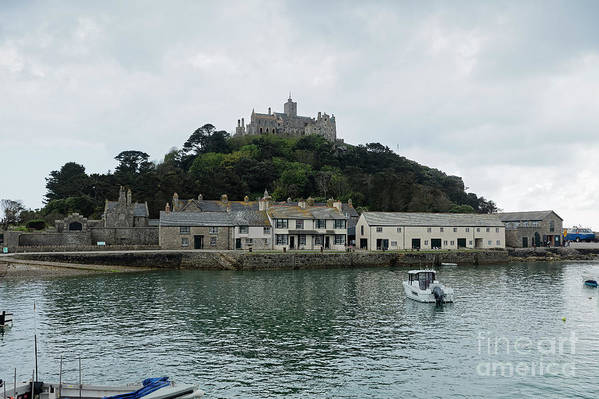 Cornwall Art Print featuring the photograph St Michael's Mount Cornwall by Philip Pound