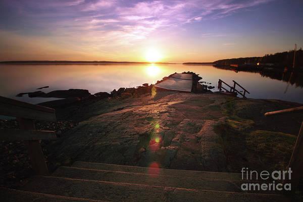 Sunset Art Print featuring the photograph 5.00 A.m. Rauhaniemi by Tapio Koivula