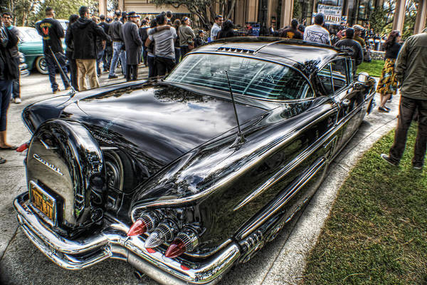 Lowrider Photographs Art Print featuring the photograph 58 Rear View by MadMethod Designs