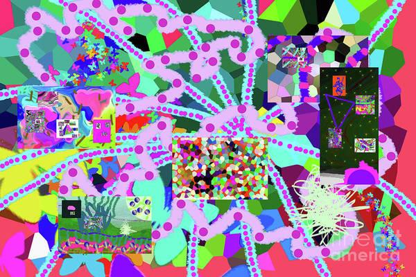 Walter Paul Bebirian Art Print featuring the digital art 6-19-2015ea by Walter Paul Bebirian