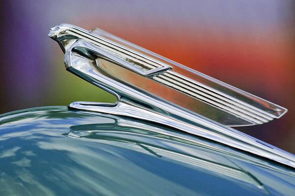 1940 Chevrolet Art Print featuring the photograph 1940 Chevrolet Hood Ornament by Jill Reger