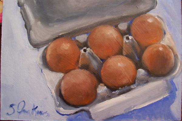 Still Life Art Print featuring the painting 6 Pack by Susan Jenkins