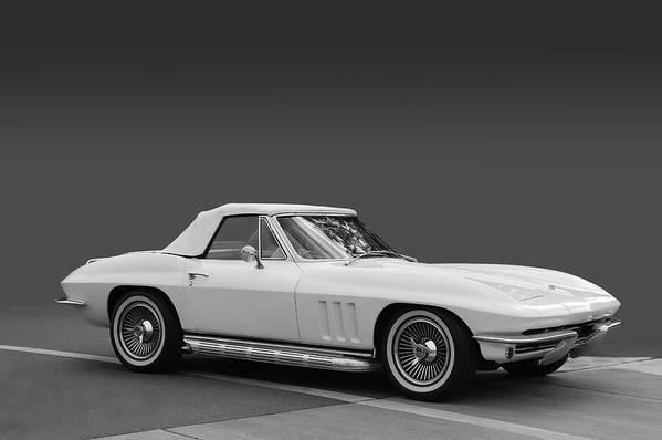 65 Art Print featuring the photograph 65 Corvette Roadster by Bill Dutting
