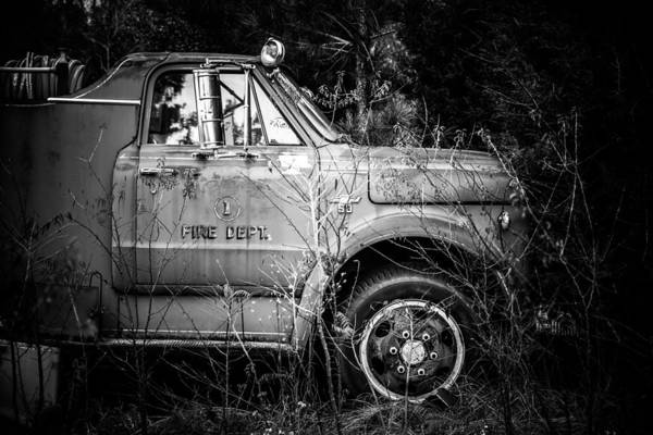 Black And White Art Print featuring the photograph Vintage Autos In Black And White by Alicia Collins