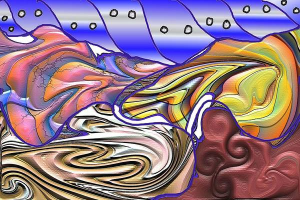 Abstsract Art Print featuring the digital art 8-ish by James Eugene Albert