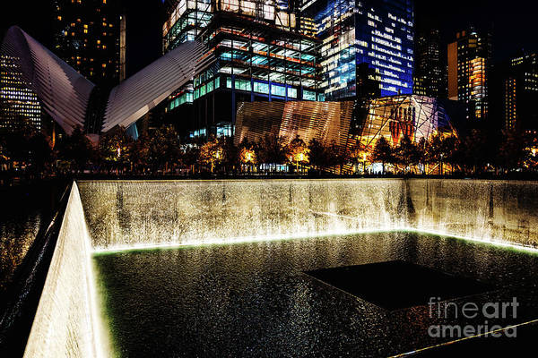 New Art Print featuring the photograph 911 Memorial by M G Whittingham