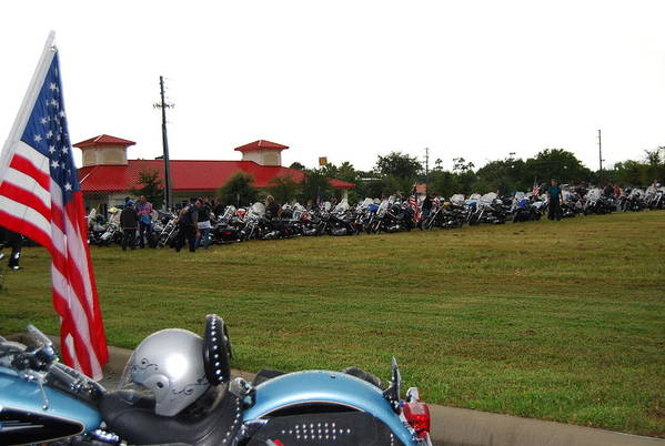 Motorcycle Art Print featuring the photograph 911 Ride Line Up by Angela Murray