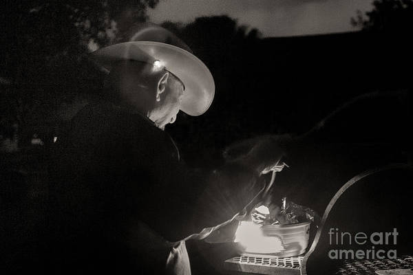 Bbq Art Print featuring the photograph A Cowboys Dinner by Sherry Davis