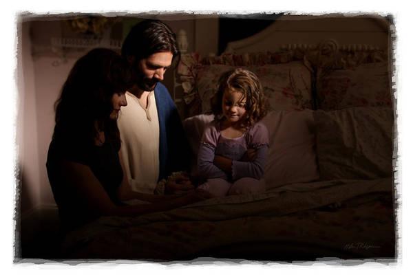 Prayer Art Print featuring the photograph A Daughter's Prayer by Helen Thomas Robson