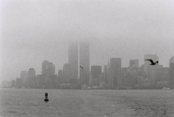 Manhattan Art Print featuring the photograph A Foggy Day by Alex Kantor