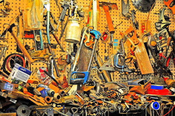 Tools.workshop Art Print featuring the photograph A Place For Everything And Everything In It's Place by Andrew Armstrong - Mad Lab Images