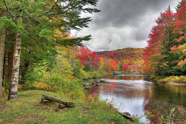Landscapes Art Print featuring the photograph A Place To View Autumn by David Patterson