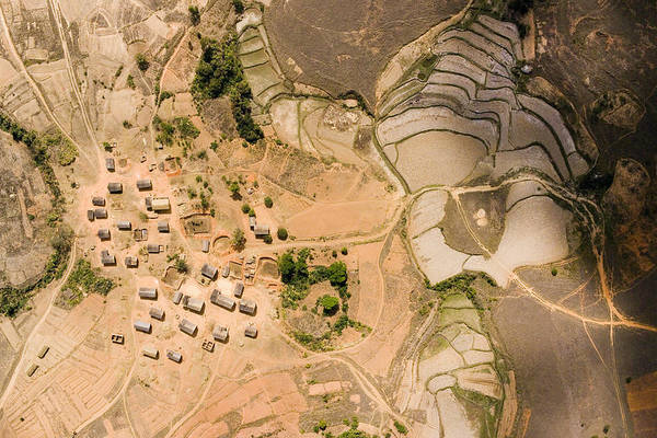 Landscape Art Print featuring the photograph A Small Rice Village In The Central by Michael Fay