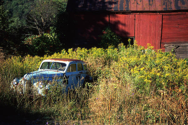 Car Art Print featuring the photograph Abandoned by Barry Shaffer
