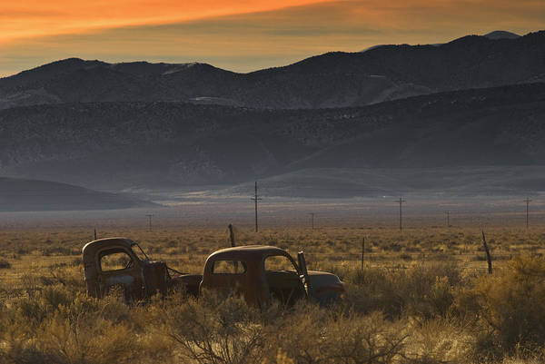 Landscape Art Print featuring the photograph Abandoned Cars No. 1 by Werner Rolli