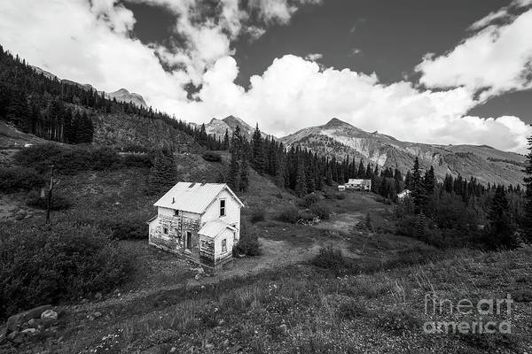 Colorado Landscape Photography Art Print featuring the photograph Abandoned Home In Silverton In Black And White by Twenty Two North Photography