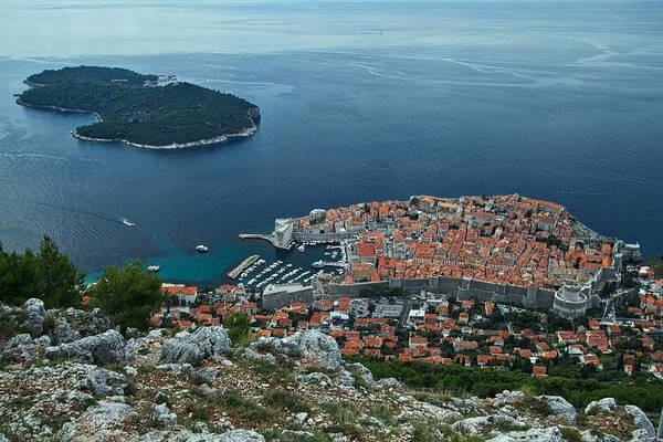 Dubrovnik Art Print featuring the photograph Above Dubrovnik - Croatia by Stuart Litoff