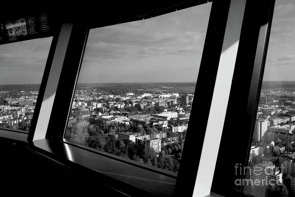 Cityscape Art Print featuring the photograph Above by Tapio Koivula