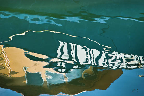 Abstract Art Print featuring the photograph Abstract Boat Reflection by Dave Gordon