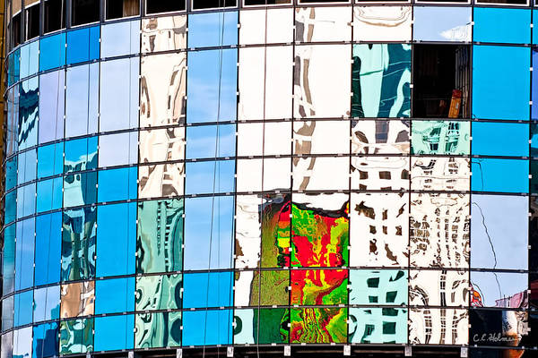 Building Art Print featuring the photograph Abstract In The Windows by Christopher Holmes