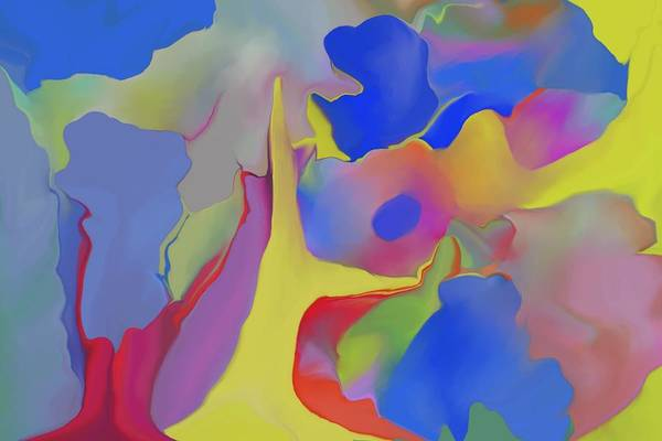 Abstract Art Print featuring the digital art Abstract Landscape by Peter Shor