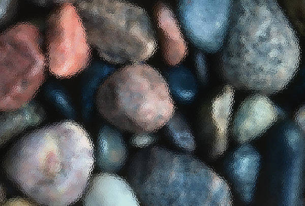 Rocks Art Print featuring the photograph Abstract Of River Rocks 1 by Steve Ohlsen