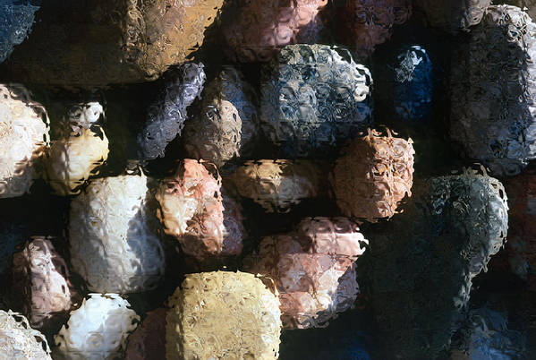Rocks Art Print featuring the photograph Abstract Of River Rocks 2 by Steve Ohlsen