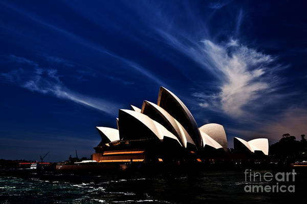 Sydney Opera House Art Print featuring the photograph Abstract Of Sydney Opera House by Sheila Smart Fine Art Photography